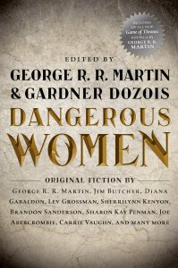 """Cover of """"Dangerous Women"""", edited by George R.R. Martin and Gardner Dozois."""