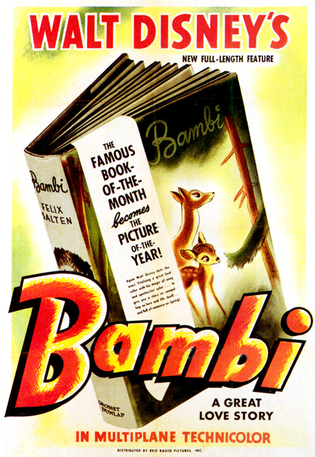 """Original theatrical poster from the """"Bambi"""" 1942 release."""