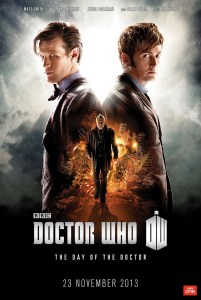 "Poster for ""The Day of the Doctor"" special."