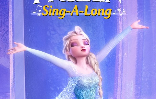 """Poster from the """"Frozen"""" sing-a-long release from Disney."""