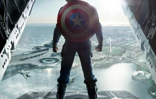 """Captain America - The Winter Soldier"" theatrical teaser poster."