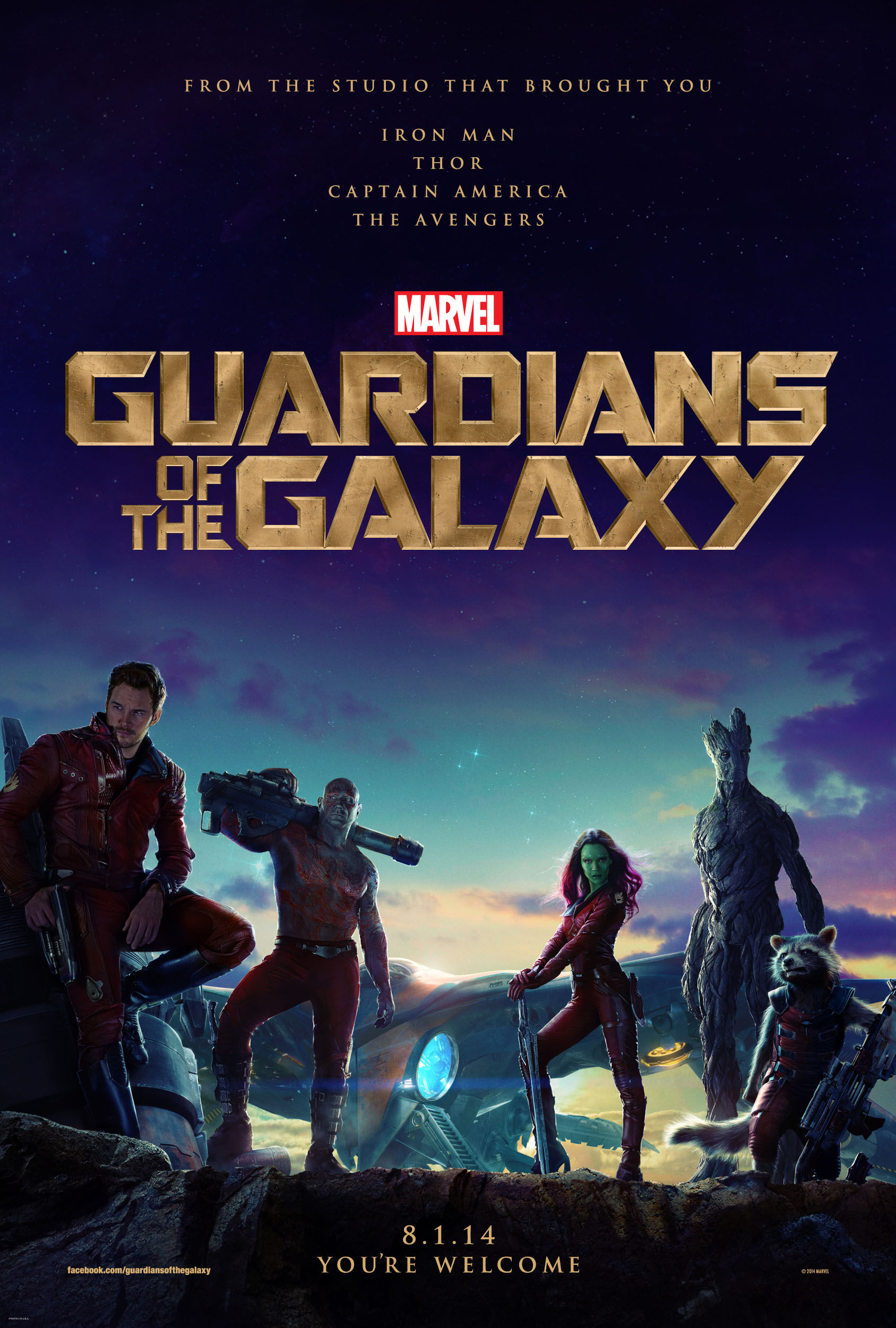 """Guardians of the Galaxy"" theatrical teaser poster."