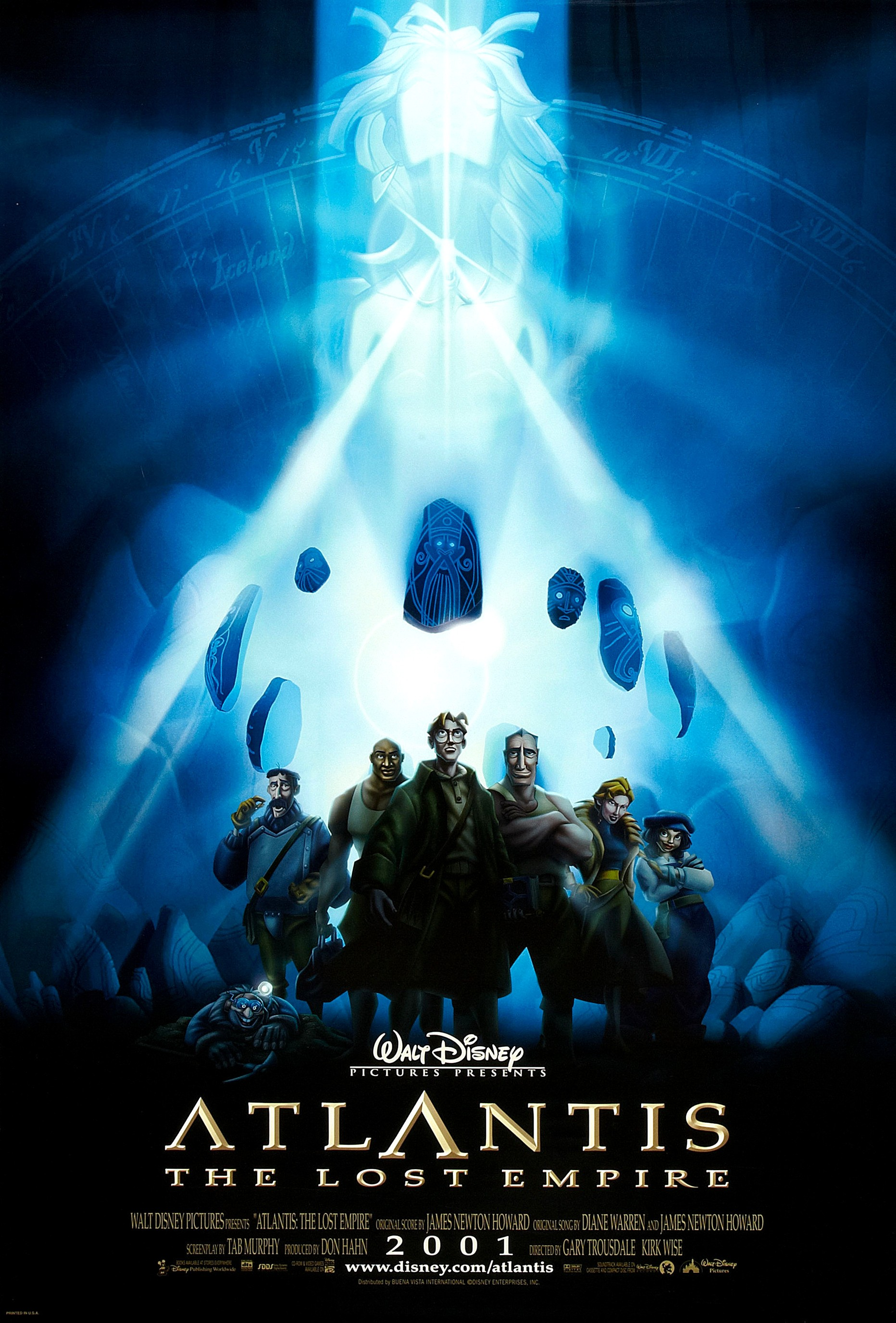 Atlantis - The Lost Empire theatrical poster