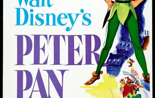"Theatrical teaser poster for Peter Pan"" (1953)."