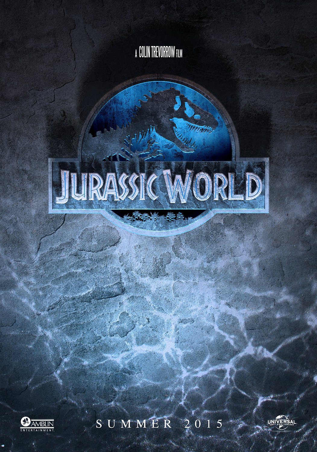 "Theatrical teaser poster for ""Jurassic World""."