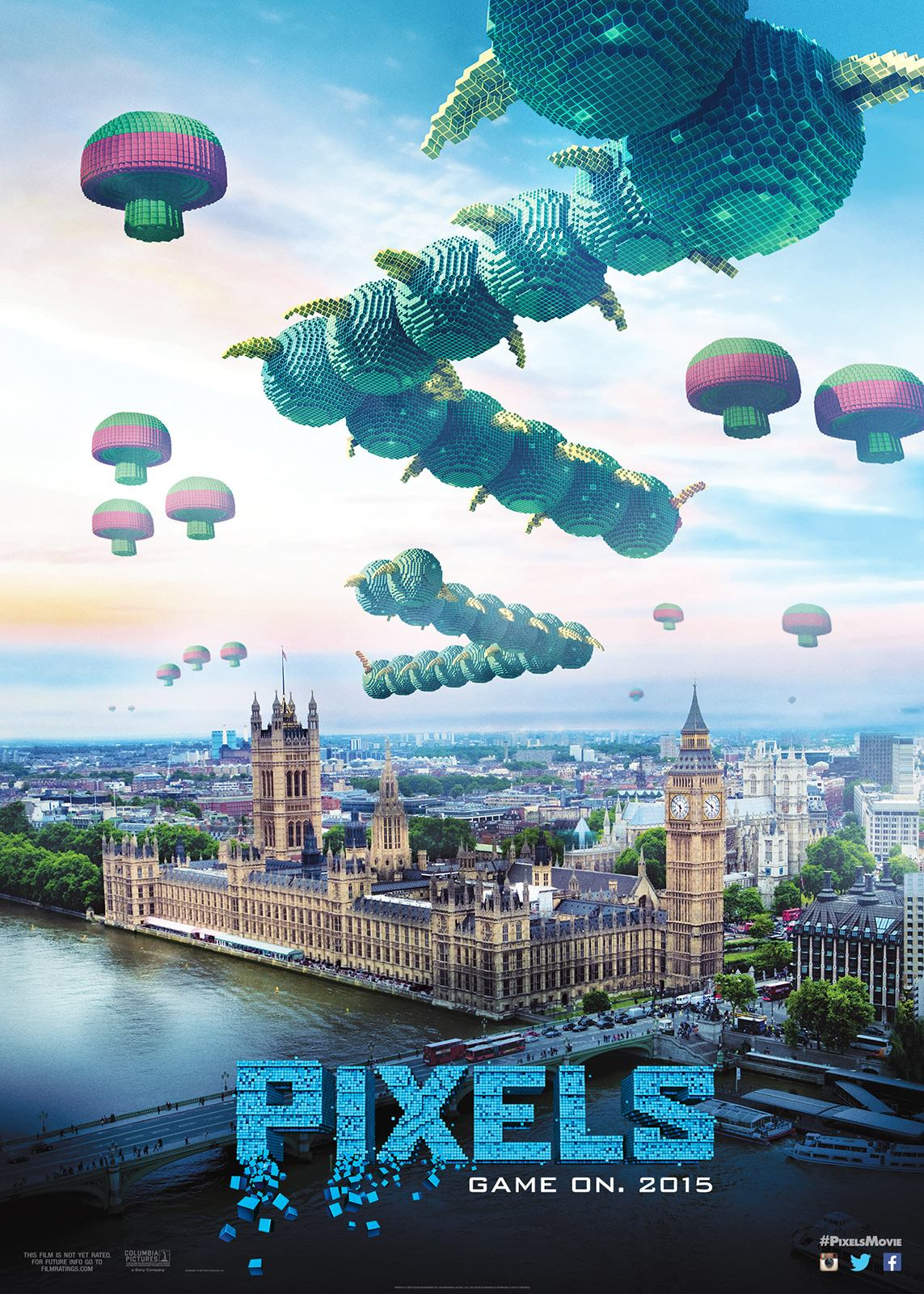 """Pixels"" theatrical teaser poster."