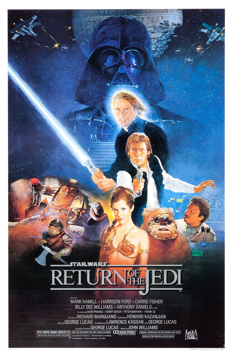"""""""Return of the Jedi"""" theatrical teaser poster."""
