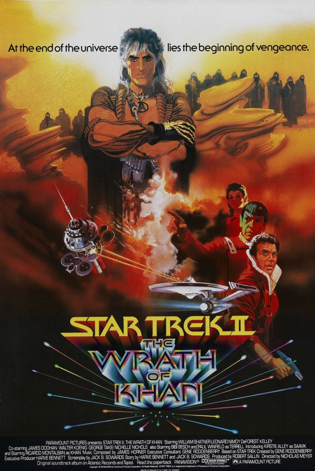 """Star Trek II - The Wrath of Khan"" theatrical poster."