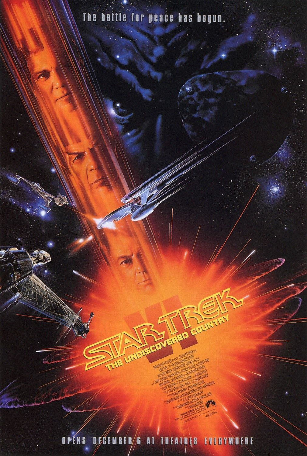 """Star Trek VI The Undiscovered Country"" theatrical poster."