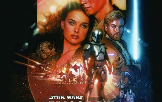 """Star Wars Episode II - Attack of the Clones"" theatrical poster."