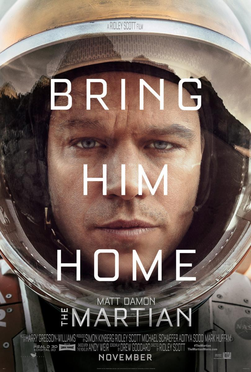 """The Martian"" theatrical poster."