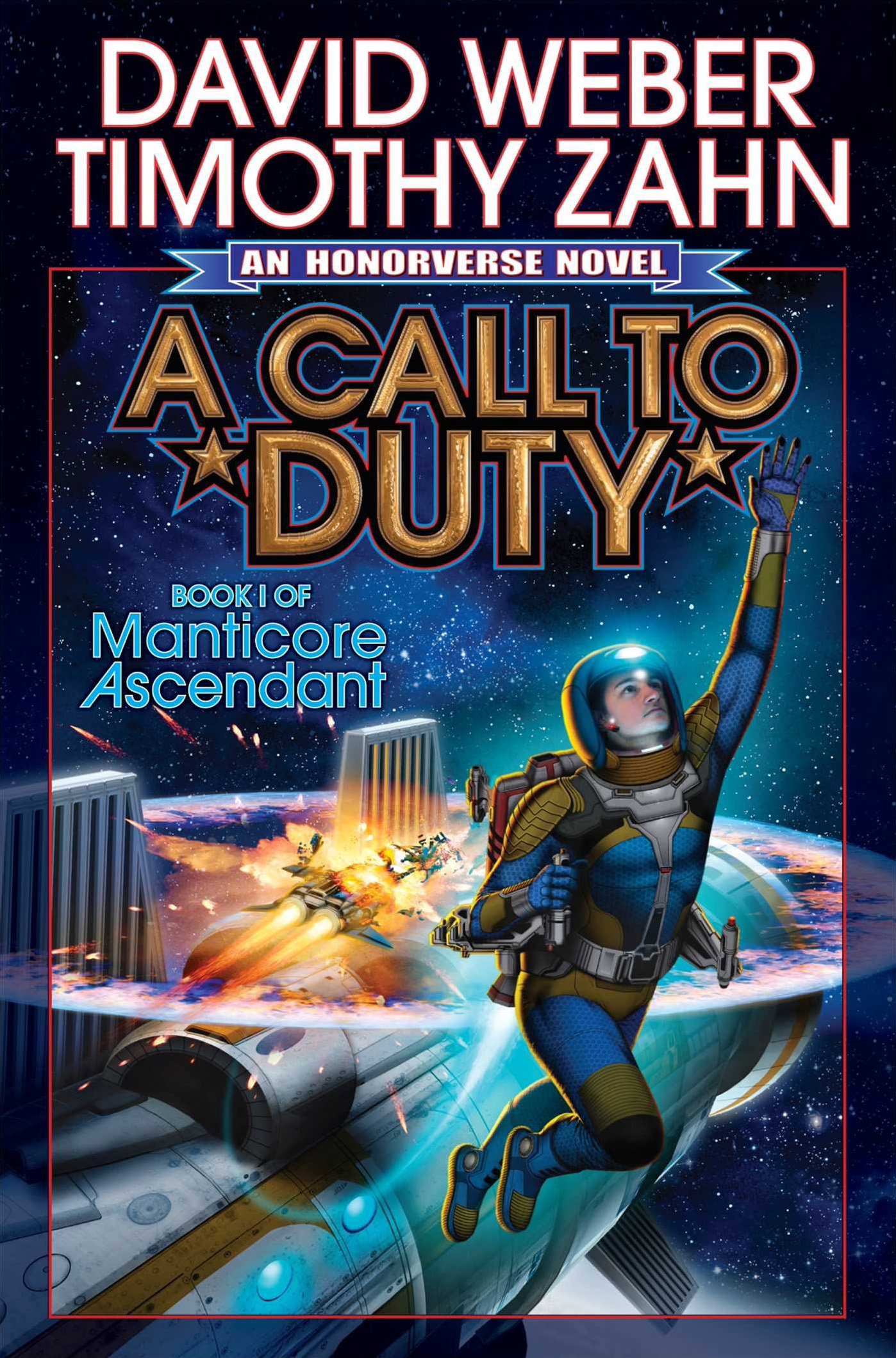 """A Call to Duty"" by David Weber and Timothy Zahn."
