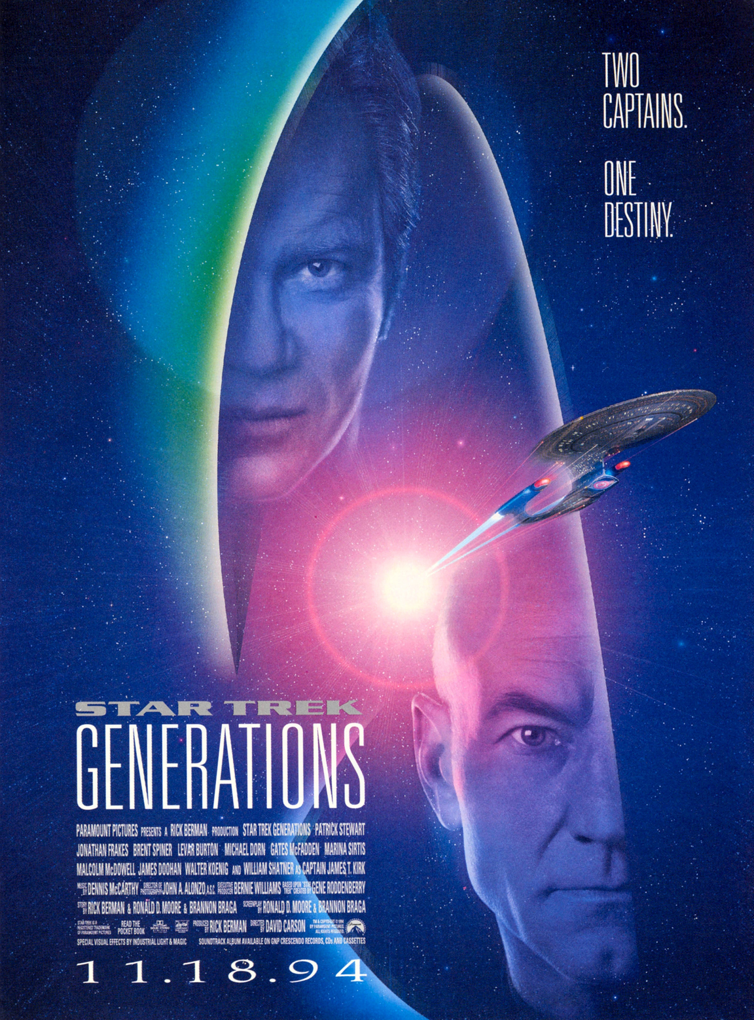 """Star Trek Generations"" theatrical poster."