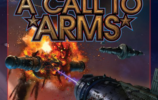 """A Call to Arms"" by David Weber, Timothy Zahn, and Thomas Pope."