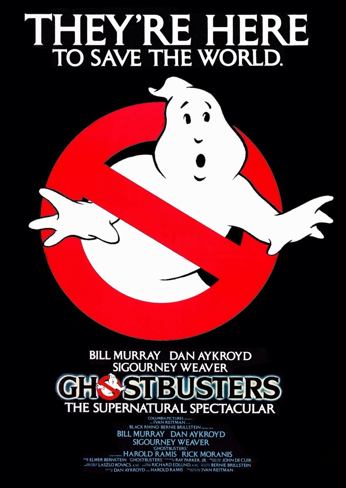 """Ghostbusters"" 1984 theatrical teaser poster."