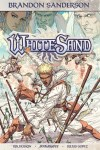 """White Sand"" volume 1 by Brandon Sanderson, Rik Hoskin, and Julius Gopez."