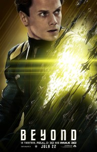 """Star Trek Beyond"" theatrical teaser poster featuring Chekov."
