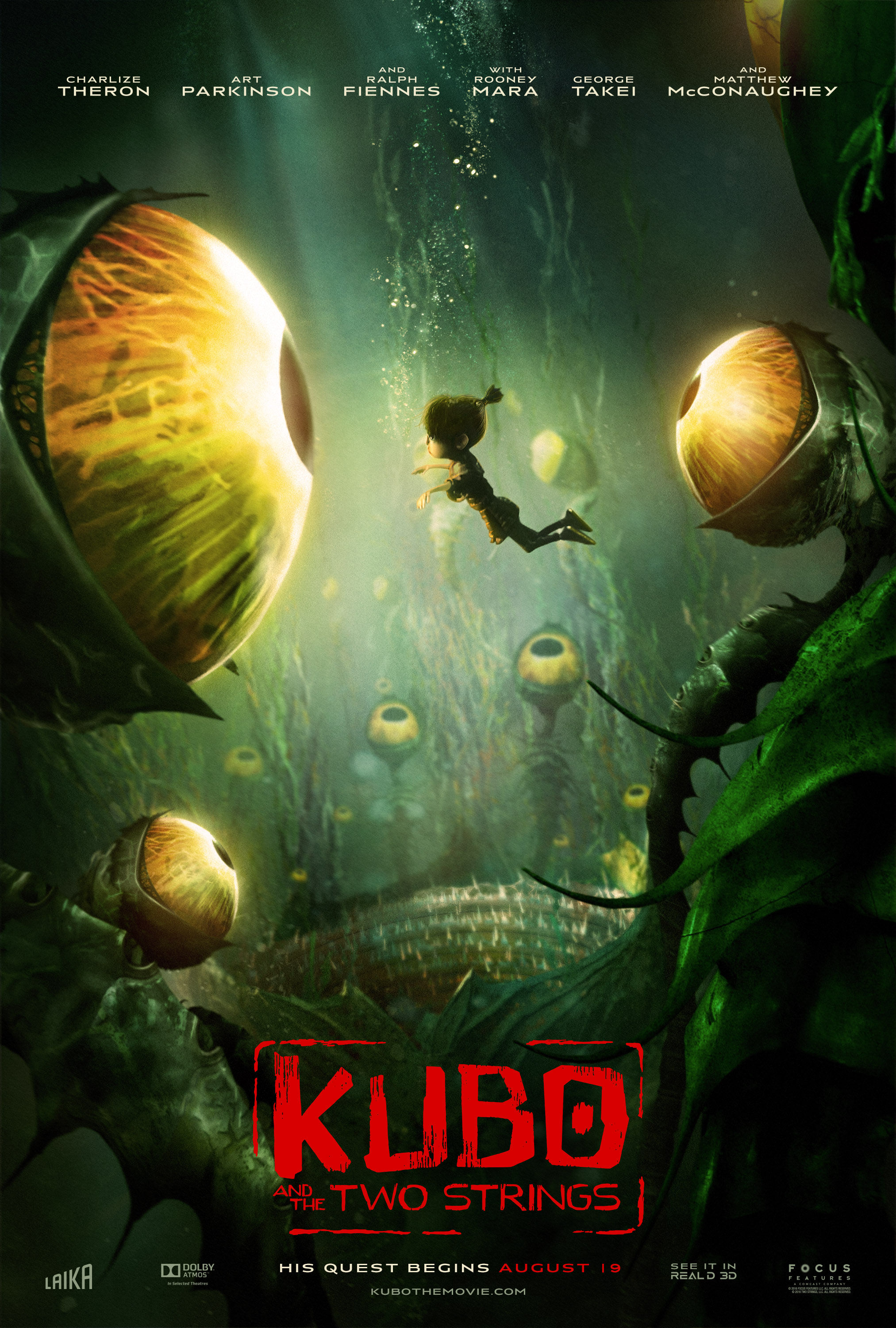 """Kubo and the Two Strings"" - the Garden of Eyes theatrical teaser poster."