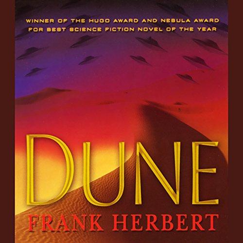 """Dune"" by Frank Herbert - audiobook cover."