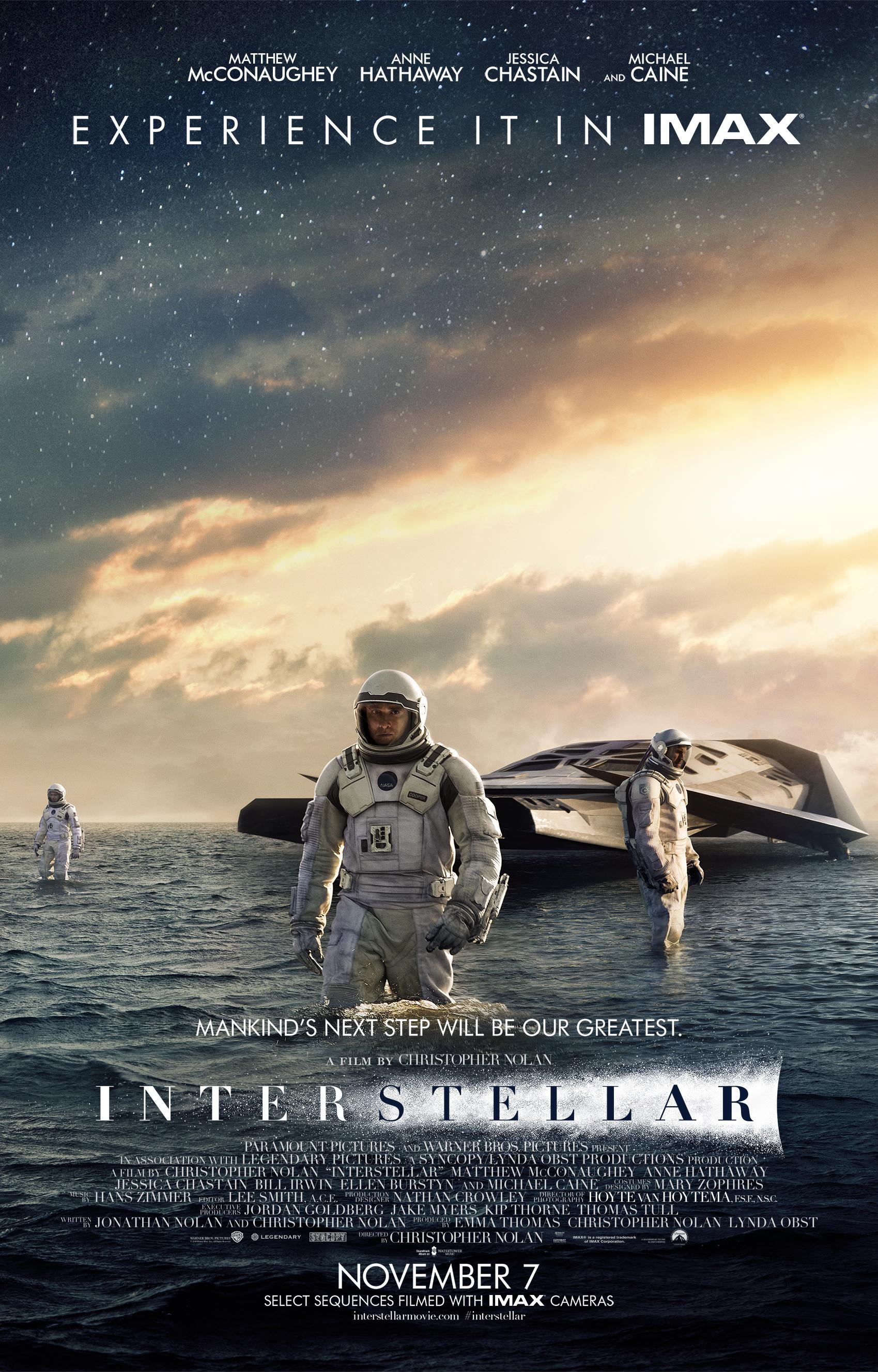 """Interstellar"" theatrical IMAX teaser poster."