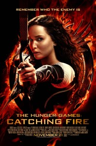 """""""Catching Fire"""" theatrical teaser poster."""