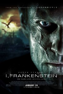 """I, Frankenstein"" theatrical teaser poster."