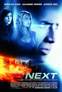 """Next"" theatrical poster."