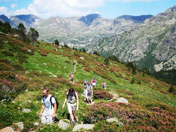 People walkimg in the Mountains of Andorra