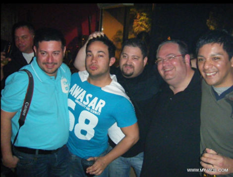 Gay group of men having a party in Andorra