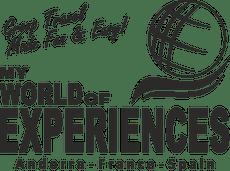 Logo My World of Experiences White Background