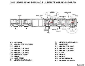 2001 and 20022005 IS300 Emanage Ultimate wiring diagram