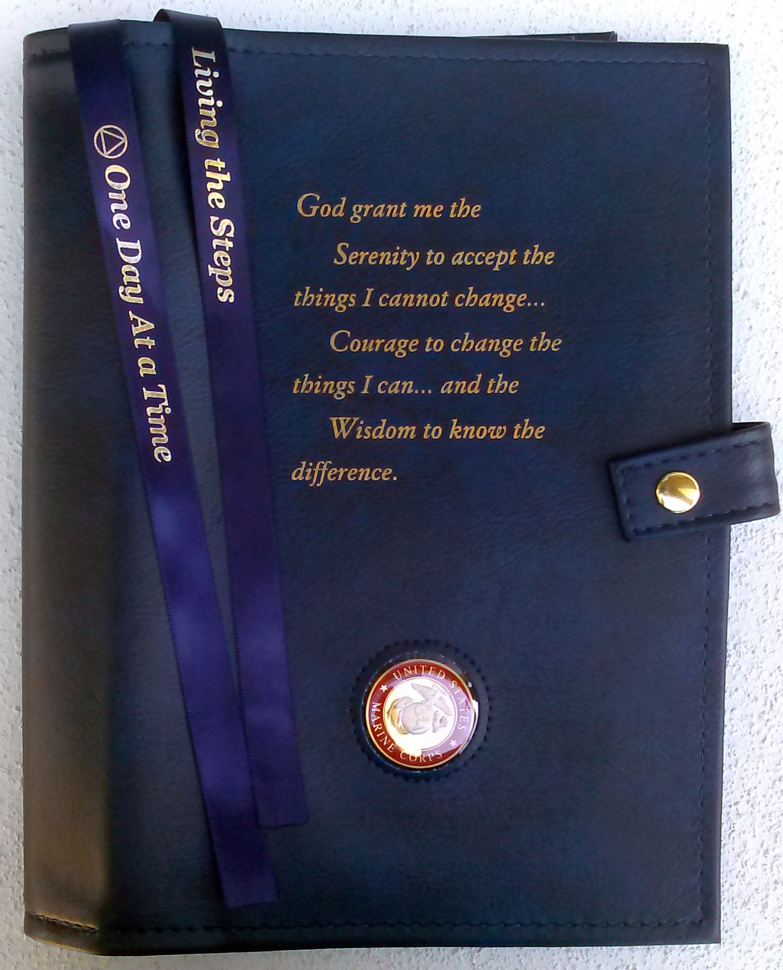 Large Print Aa Serenity Prayer Double Cover Blue