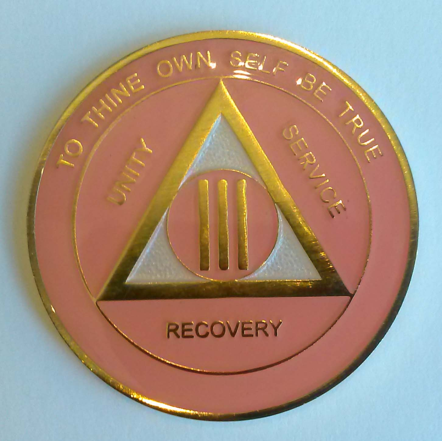 Aa Gold Pink And Pearl Recovery Medallion