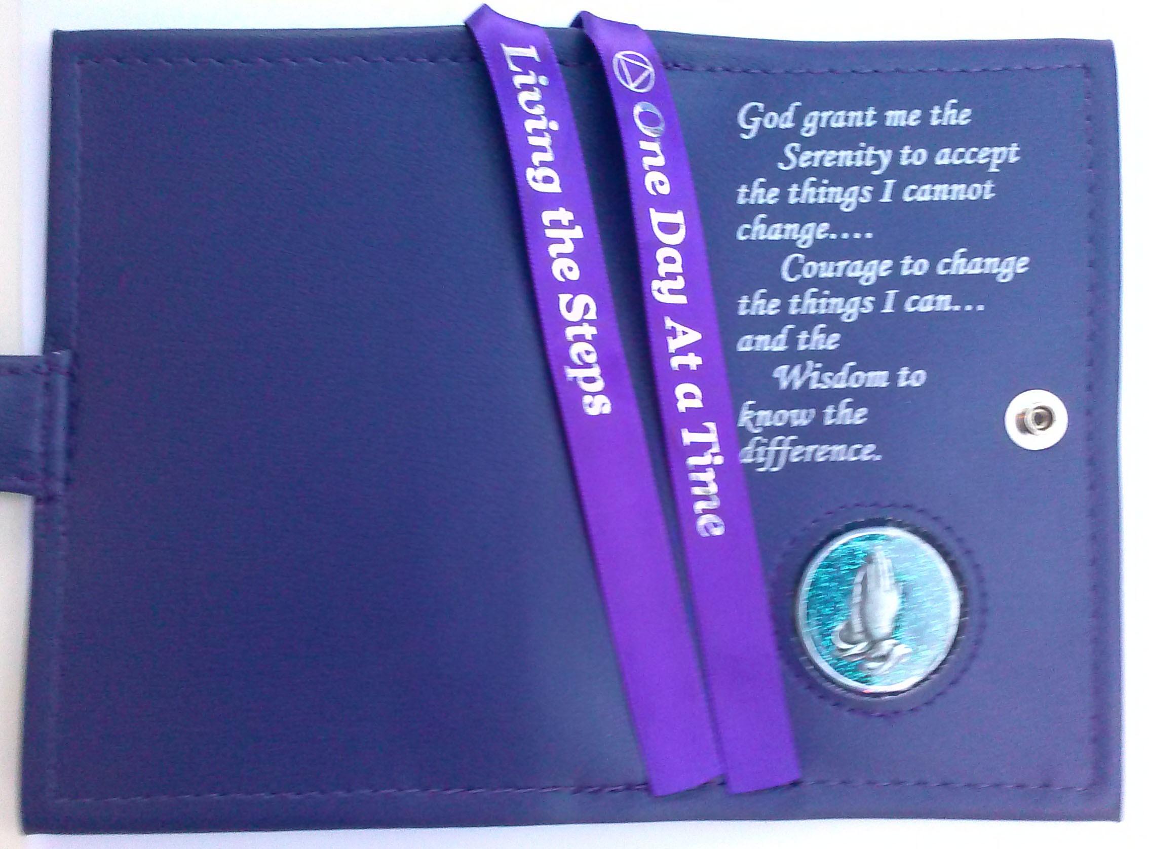 Pocket Aa Serenity Prayer Double Cover Purple