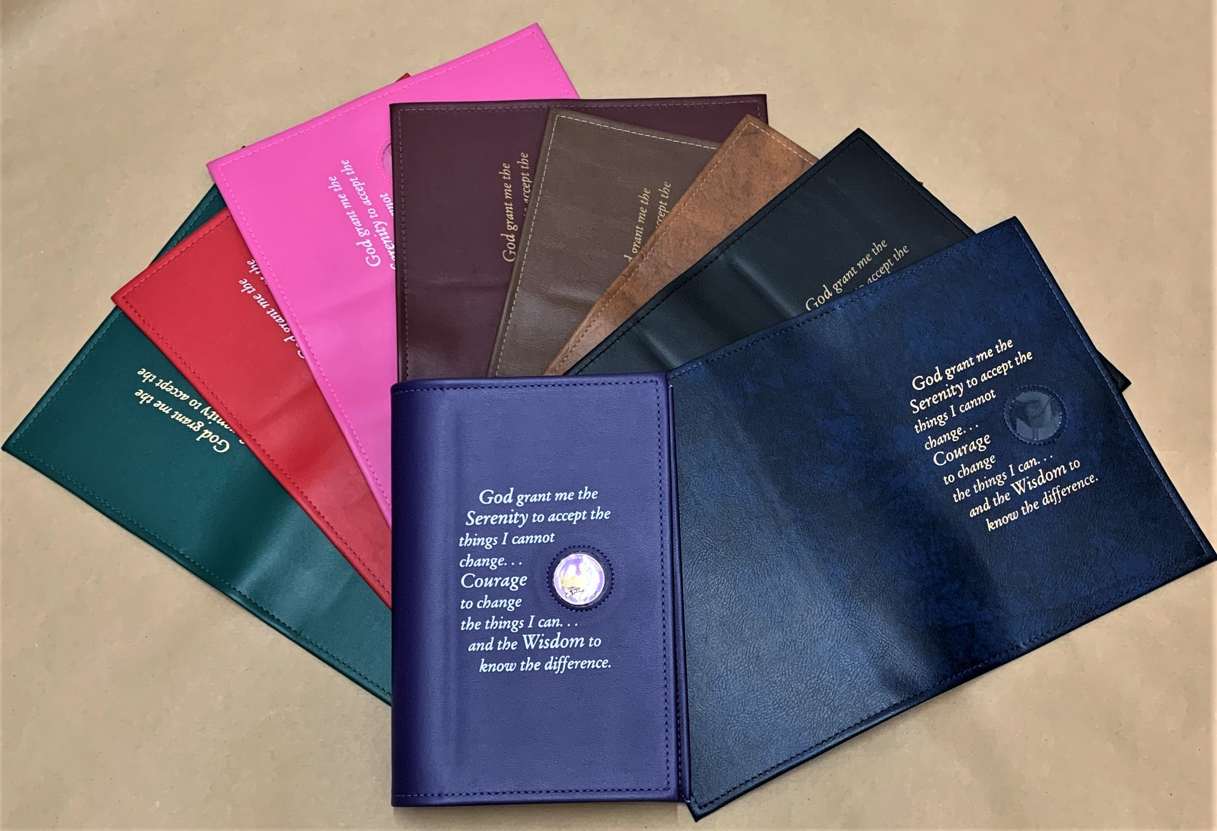 Large Print Big Book Cover W Serenity Prayer Amp Coin Holder