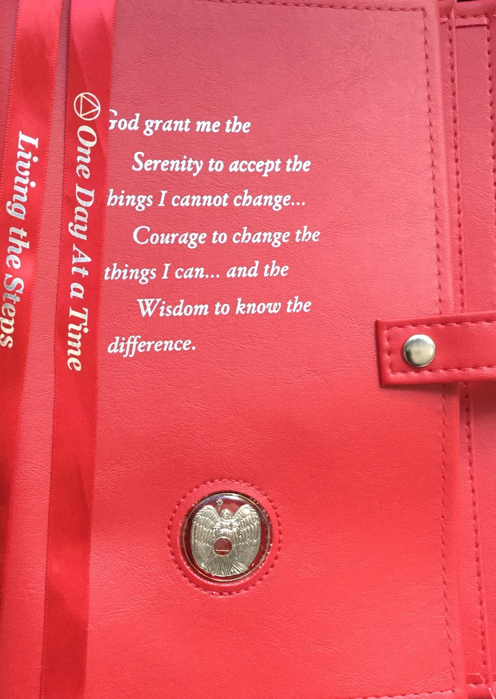 Large Print Aa Serenity Prayer Double Cover Red