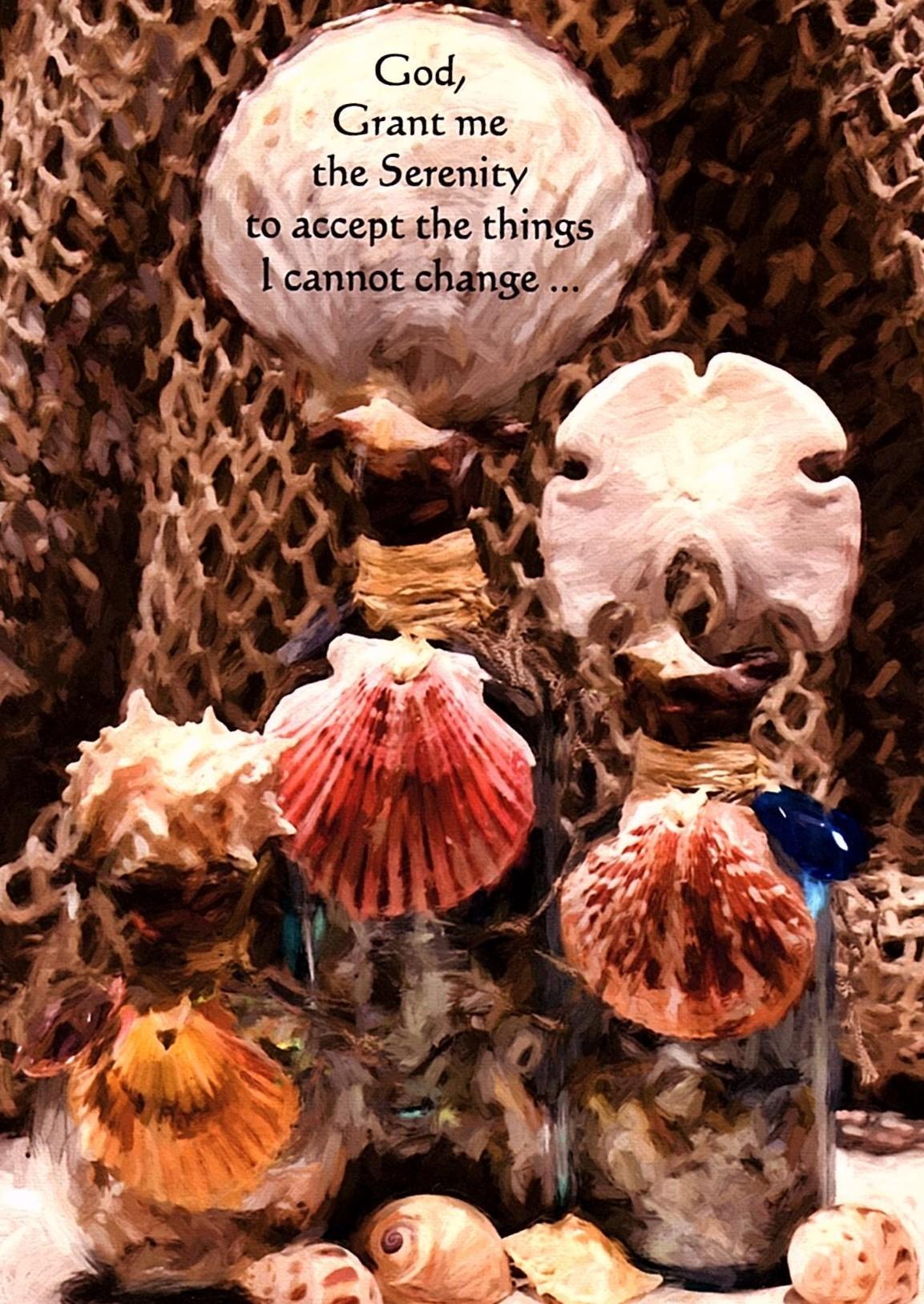 Sea Shell Serenity Prayer Greeting Card