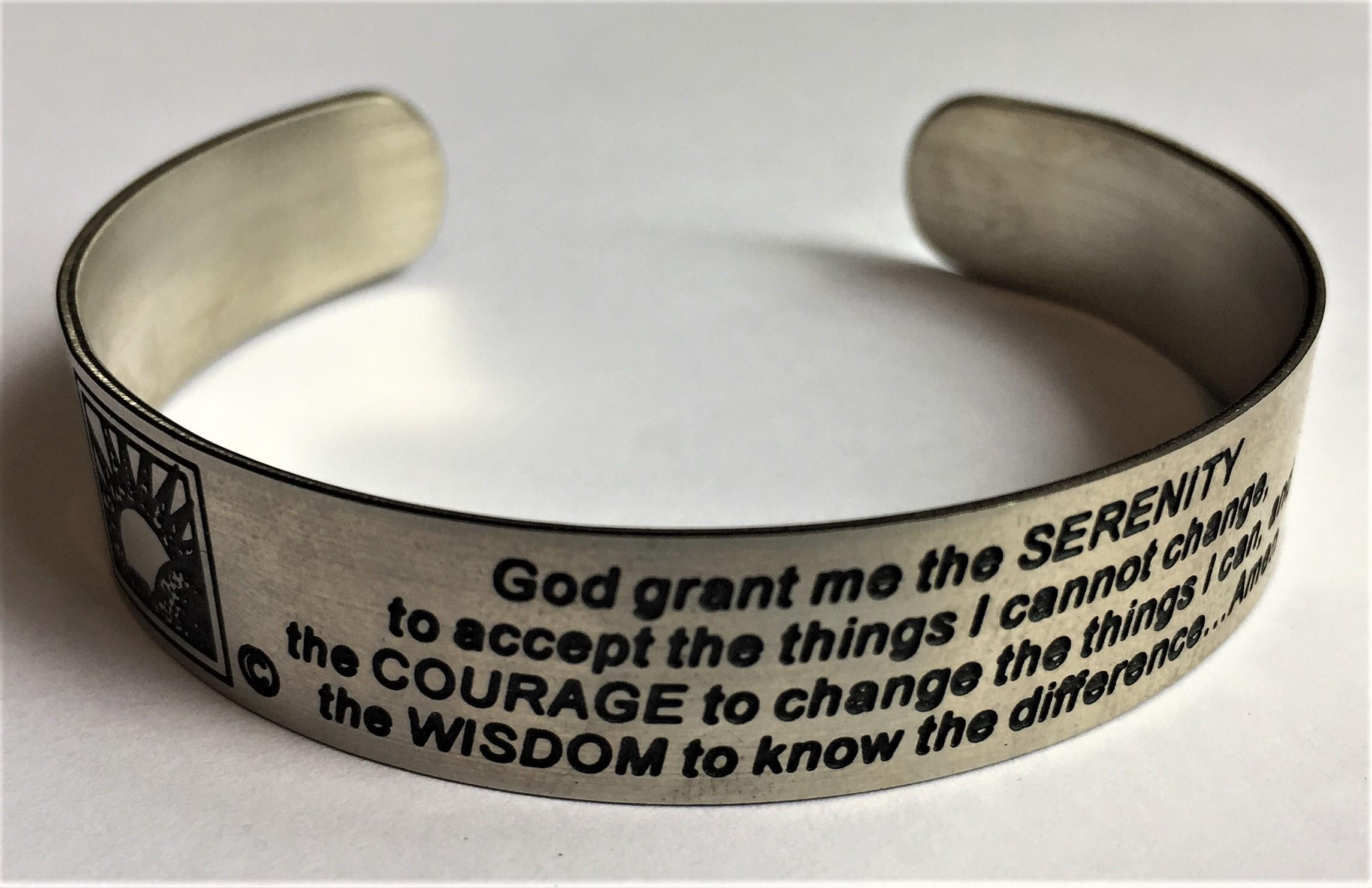 Serenity Prayer Band Bracelet