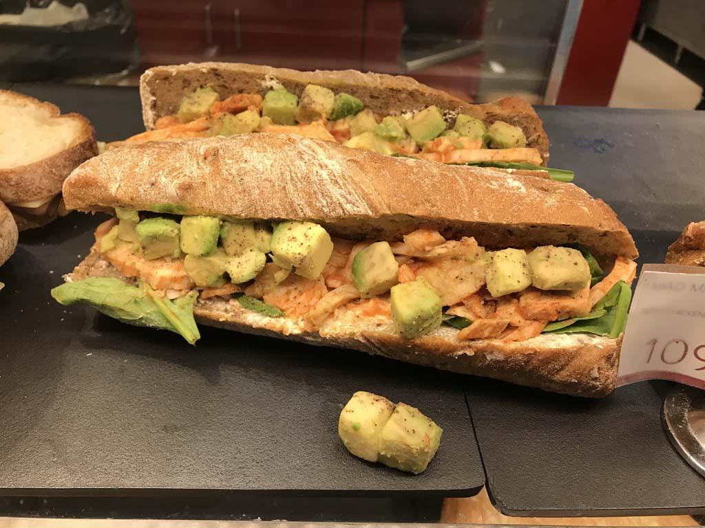 Chicken Sub and Avocado