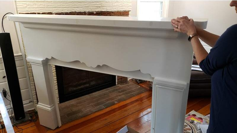 removed mantel