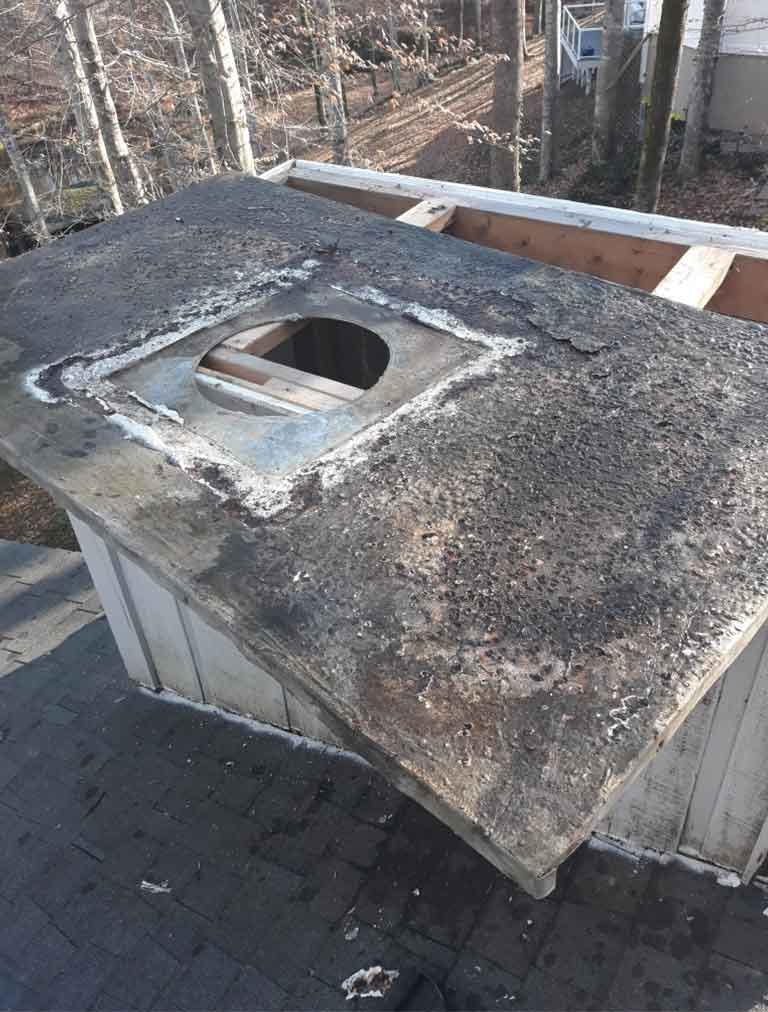 prefab fireplace old Chimney cap