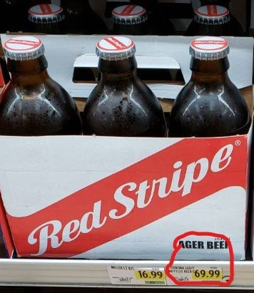 Red Stripe Beer - Turks and Caicos