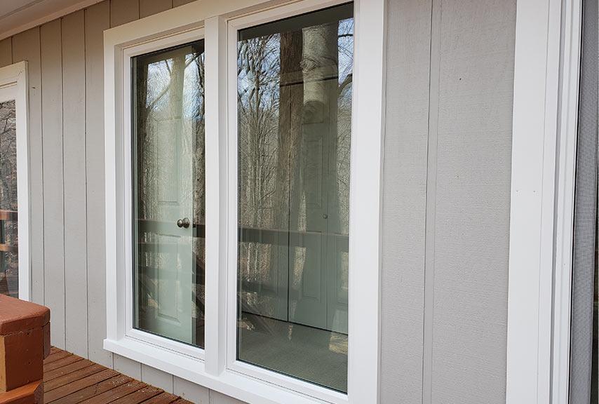 Repurposed picture windows exterior final installed Window World