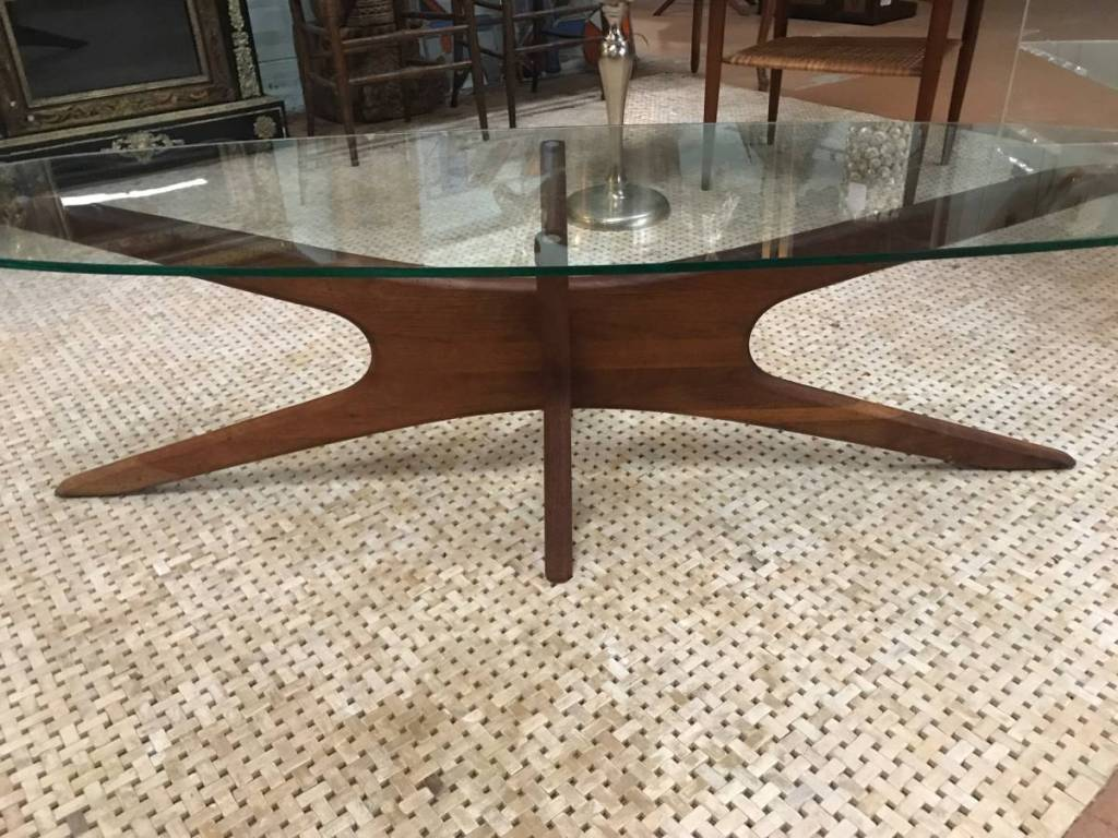 Adrian Pearsall glass coffee table