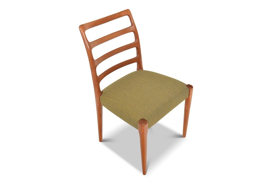 Danish Mid-Century Modern Chairs for sale Green