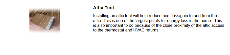 Save Energy with an Attic Tent
