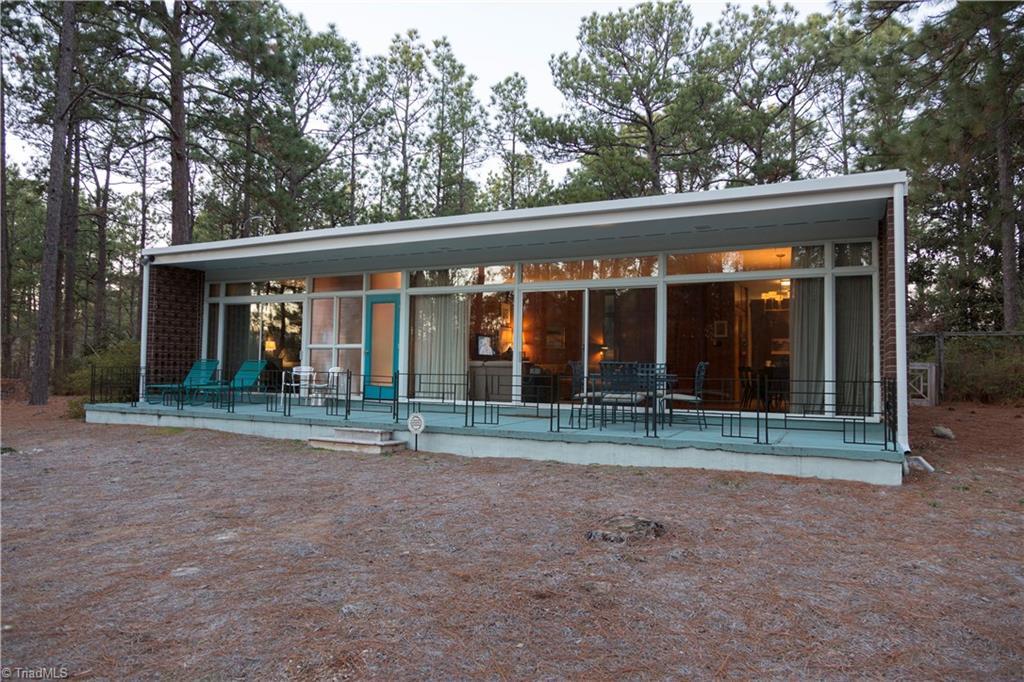 1959 Mid-Century Modern Home at dusk