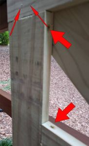 Farm house style deck gate Joints
