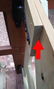 Farm house deck gate support
