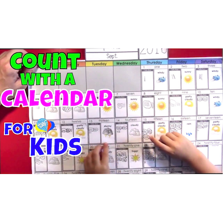 Learn How To Count With A Calendar For Kids | Cool Math Kids